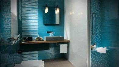 Photo of Baños modernos azules – Innovaciones en la decoración interior